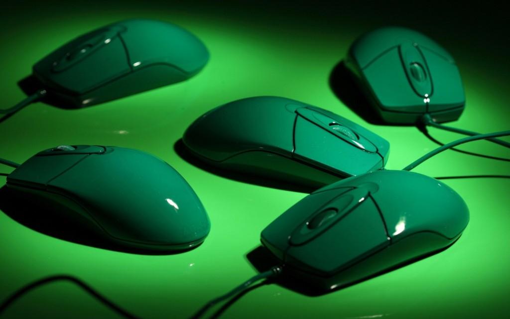 Green-Computer-mouse-Wallpaper