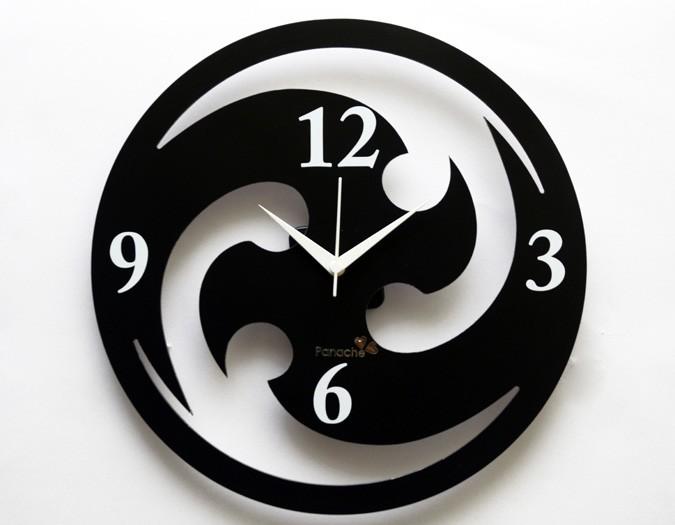 SAI001BAS0100139-Basement-Bazaar-Symmetric-Chakari-Black-Wall-Clock